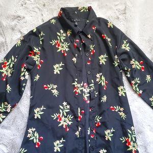 NWOT Cherry Print Buttondown Dress or Duster